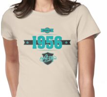 Born in 1956 (Blue&Darkgrey) Womens Fitted T-Shirt