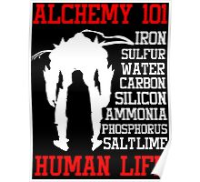 Full Metal Alchemist Brotherhood FMA Alchemy 101 Edward Elric Anime Cosplay T Shirt Poster