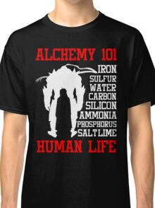 Full Metal Alchemist Brotherhood FMA Alchemy 101 Edward Elric Anime Cosplay T Shirt Classic T-Shirt