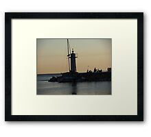 Sunset time! Framed Print