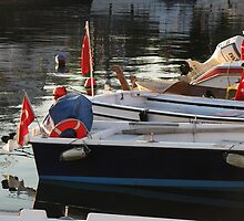 The flags in the boats-TURKEY by rasim1