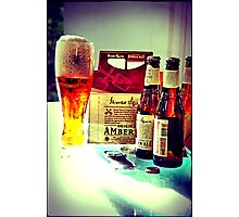 Amber Ale Photographic Print
