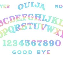 pastel rainbow ouija board by haventhadenough