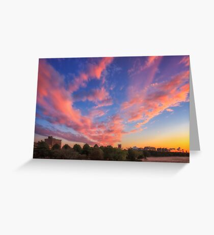 High and Away over Fenway Park Greeting Card