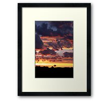 Cartoon Sunrise Framed Print