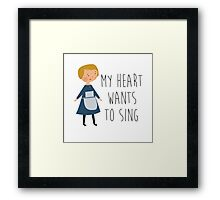 Sound of music maria Framed Print