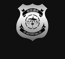 Haven Team Wuornos Silver Police Badge Logo Unisex T-Shirt