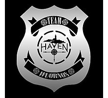 Haven Team Wuornos Silver Police Badge Logo Photographic Print