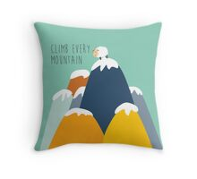 Sound of music - climb every mountain Throw Pillow