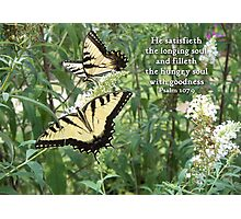 He satisfieth the longing soul Photographic Print