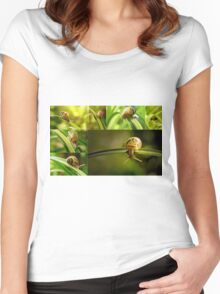 snail doing gymnastics Women's Fitted Scoop T-Shirt