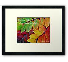 Fall Greetings Framed Print