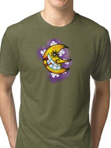 Creepy Soul Eating Moon Tri-blend T-Shirt