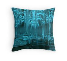 Blue Tingles   ^ Throw Pillow