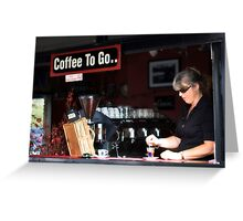 Panini Barista Greeting Card