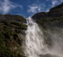 Underneath Sutherland Falls by Kristin Repsher