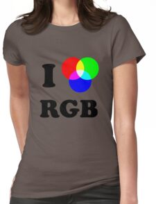 I heart RGB Womens Fitted T-Shirt