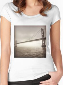 The Bay Bridge Women's Fitted Scoop T-Shirt
