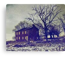 What Once Was a Warm Comfy Farmstead. Canvas Print