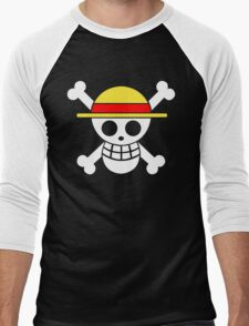 One Piece Monkey D. Luffy Mugiwara Strawhats Pirates Anime Cosplay T Shirt Men's Baseball ¾ T-Shirt