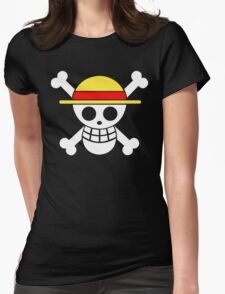 One Piece Monkey D. Luffy Mugiwara Strawhats Pirates Anime Cosplay T Shirt Womens Fitted T-Shirt