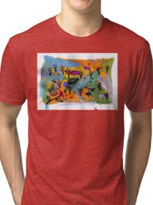 Midnight Garden cycle1 1 Tri-blend T-Shirt