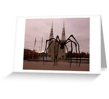 Attack of the spider!!!!! Greeting Card