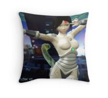 Leana: From The Steel Travelers of Urth. Throw Pillow