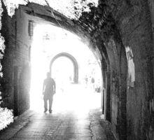Jerusalem walk in Sticker