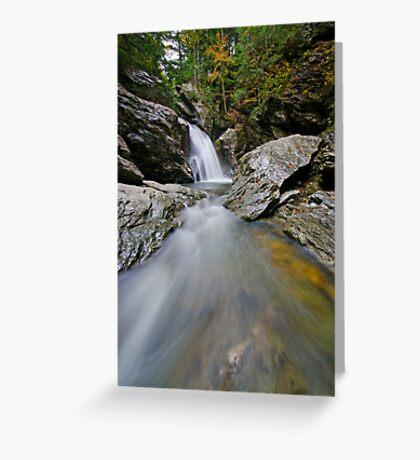 Bingham Falls - Midstream - Wide Greeting Card