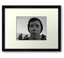 Blank face Framed Print