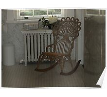 Lone Rocking Chair Poster
