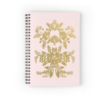 Gilded & Pink Flower Notebook Spiral Notebook