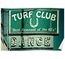 Turf Club Sign Poster