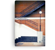 Stairway and Lantern Canvas Print