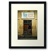 Pastime Pool Room Framed Print