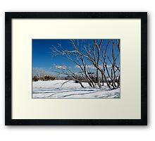 Snow on the mountainside 1 Framed Print