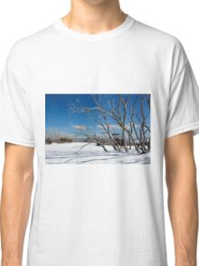 Snow on the mountainside 1 Classic T-Shirt