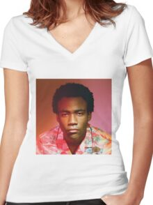 Childish Gambino | Because The Internet | Tee |  Women's Fitted V-Neck T-Shirt
