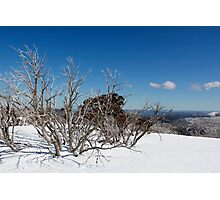 Snow on the mountainside 3 Photographic Print
