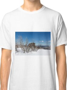Snow on the mountainside 3 Classic T-Shirt