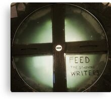 Feed The Starving Writers Canvas Print