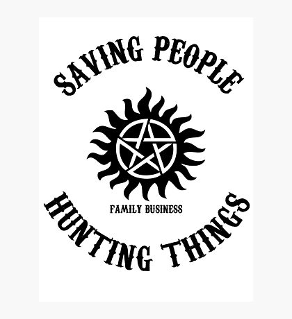 Saving People Hunting Things Photographic Print