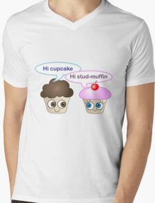Hi cupcake, hi stud-muffin Mens V-Neck T-Shirt