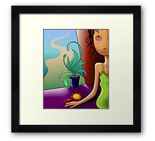 Girl shedding tears in need of more toys	 Framed Print