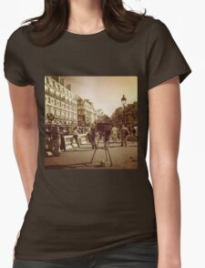 Vintage Paris Photographer Womens Fitted T-Shirt