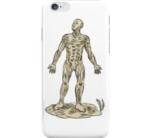 Human Muscle Anatomy Etching iPhone Case/Skin