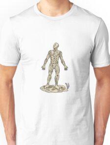 Human Muscle Anatomy Etching Unisex T-Shirt