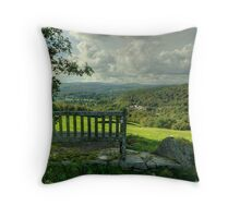 The Bench Up The Hill Throw Pillow