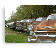 rusty cars Canvas Print